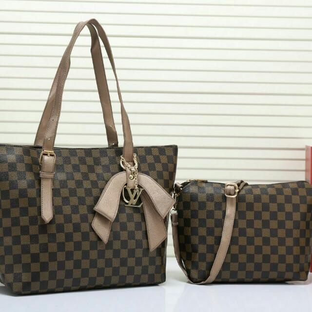 5bc0d641445b Set handbag lv gucci 2 in 1, Women's Fashion, Bags & Wallets on ...