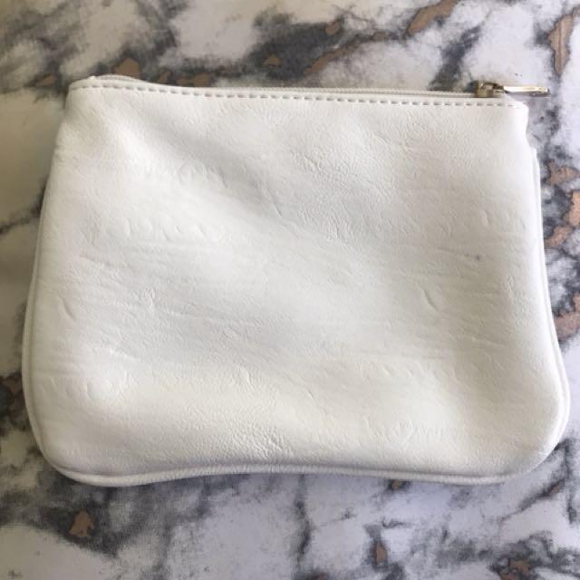 Small white clutch