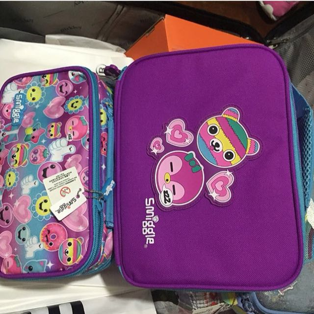 Smiggle lunch box and pencil case
