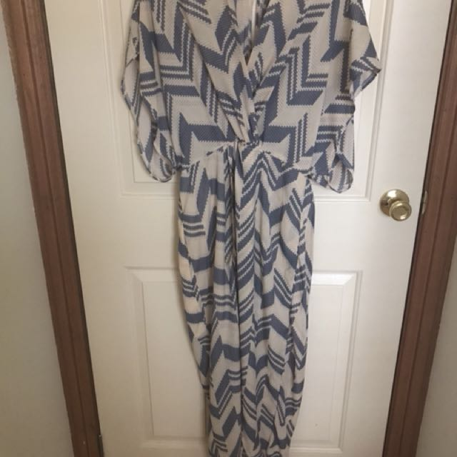 St Frock chevron resort style maxi dress size 10 #CheapAsChips