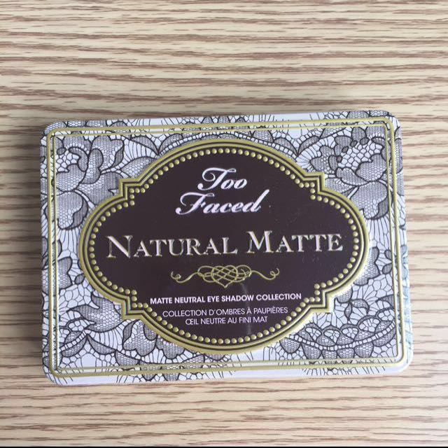 Too Faced Natural Matte Neutral Eyeshadow Palette Collection AUTHENTIC