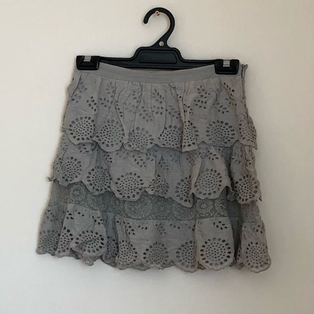 Top shop cutout design tiered skirt