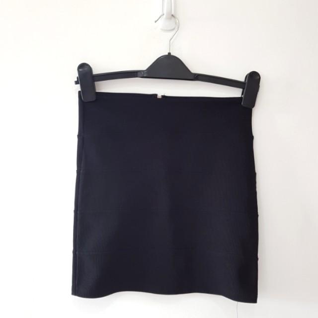 Topshop Black Bandage Skirt