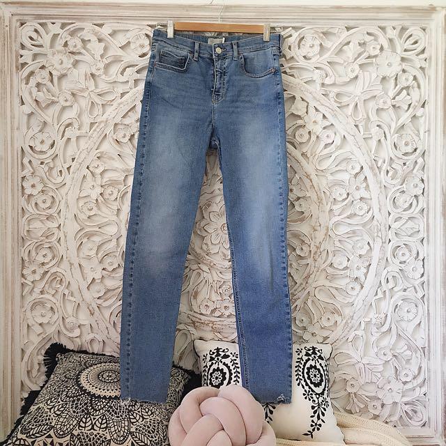 Topshop Jamie Jeans Raw Hem