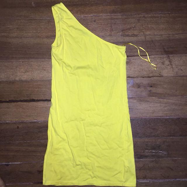 topshop one shoulder dress