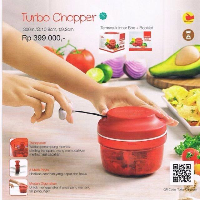 Turbo chopper tupperware free ongkir