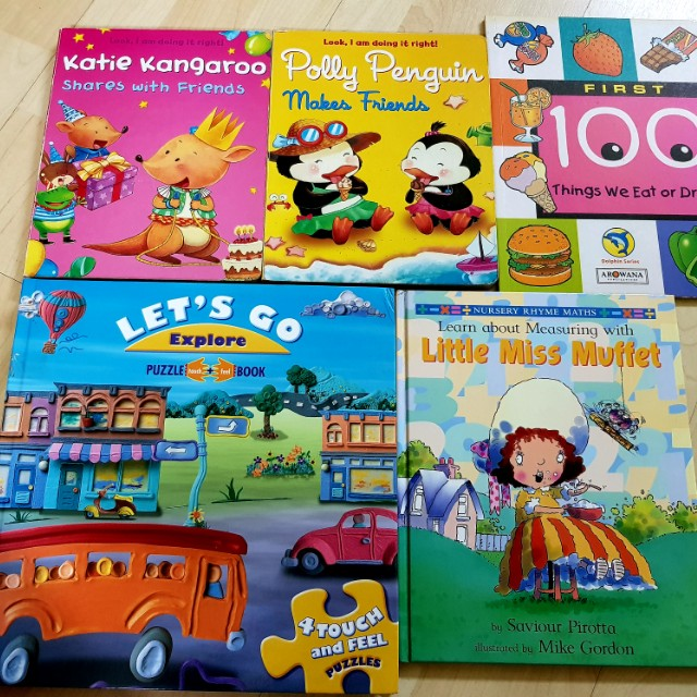 Values Board Books w Puzzles & Maths