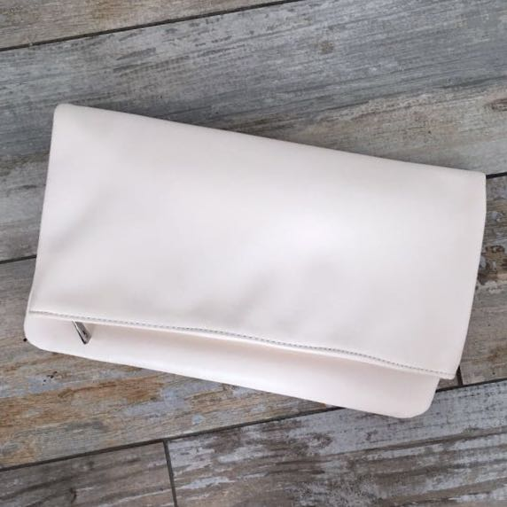 White Folding Clutch