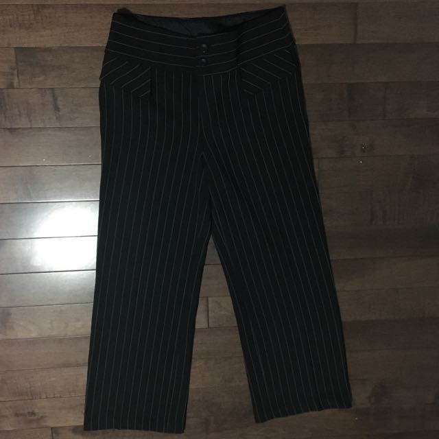 Wide legged cropped trousers