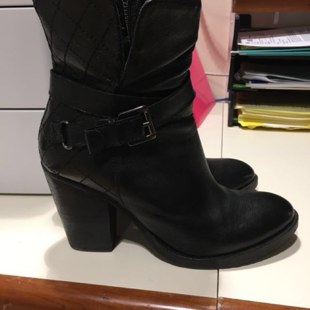 Womens Leather Steve Madden Boots
