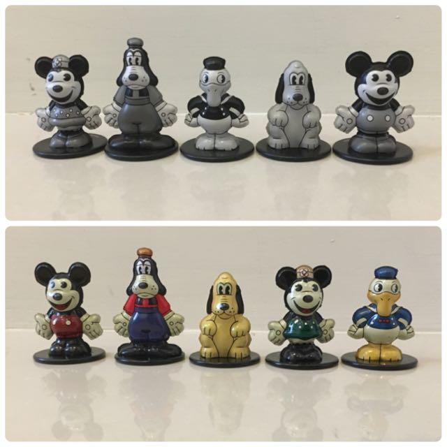 Yujin 迪士尼 復古 鐵皮 黑白 彩色 鐵製 扭蛋