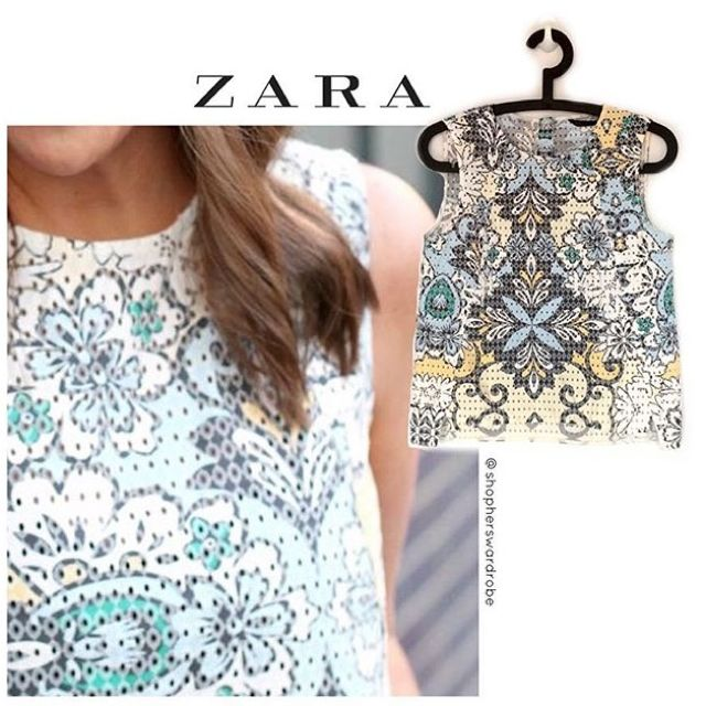 Zara Eyelet Top