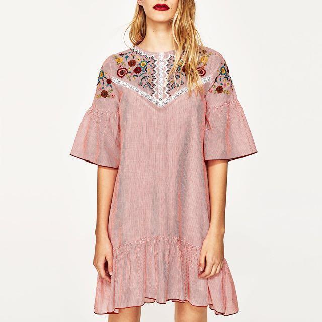 Zara Inspired Embroidered Dress