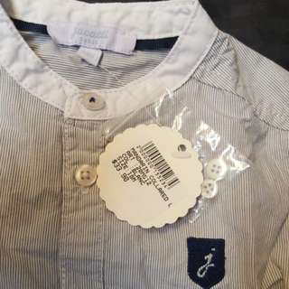 BNWT mandarin collared boy's shirt