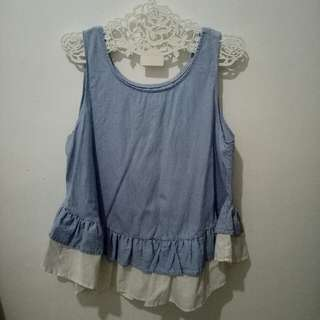 This is april denim top