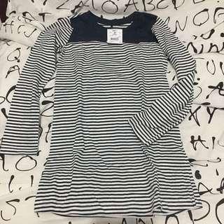 H&T Navy Striped Girls Dress