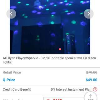 Ac Ryan wireless speaker with led disco lights