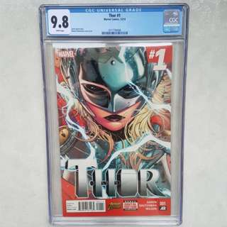 Marvel Comics CGC 9.8 Thor 1 Lady Thor Jane Foster
