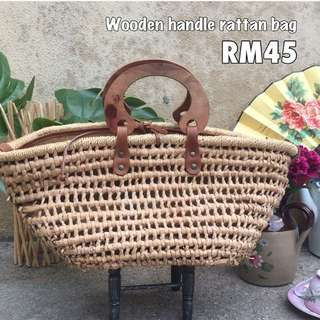 Recycled woven rattan bag