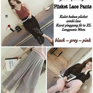 IMPORT !  Plisket Lace Pants 88.000