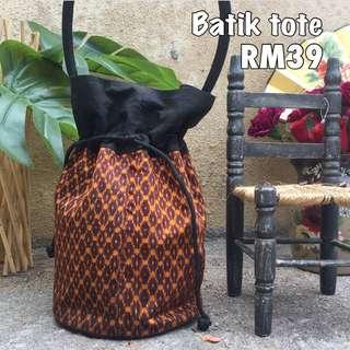 Vintage batik tote