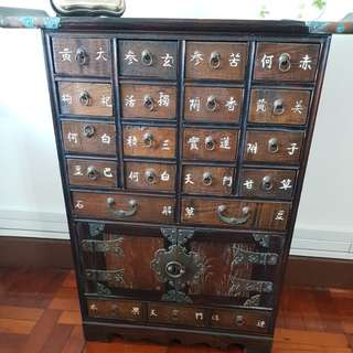 Antique traditional chinese medical drawer cabinet