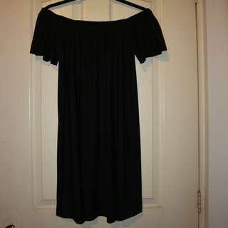 Mango - Black Off Shoulder Dress