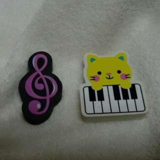 音符貓貓擦膠 (一套兩件)