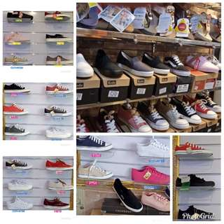 Branded shoes -  CONVERSE, KEDS & VANS (overrun)
