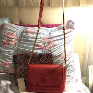 Tory Burch Red Sling Bag