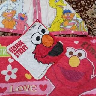 Sesame elmo kids babys towel