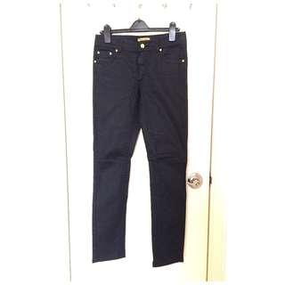 Roberto Cavalli for H&M  Ladies jeans  PU塗層 女裝 低腰 修腳 牛仔褲 ~Made in Turkey @Size 38