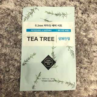 Etude House Mask (Tea Tree)