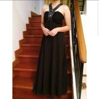 Black Long Gowns For Rent