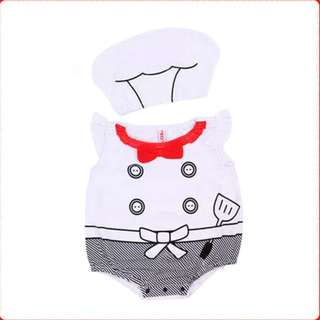 INSTOCK - Little Chef Baby Romper / Onesie