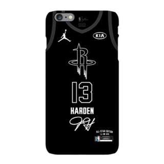 **2017-2018 NBA全明星賽James Harden隊員磨沙手機殼(iPhone)**