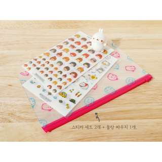 preorder: molang diary sticker set