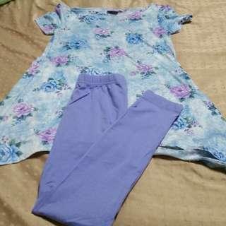 Sale! Gurls blouse & Leggings