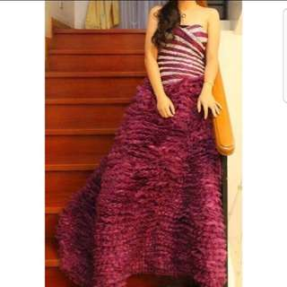 Violet Ball Gown For Rent