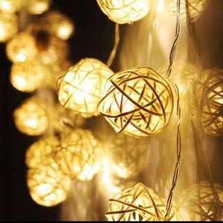 Rattan ball Fairy Lights