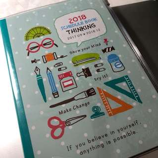2018 schedule book (2018行事曆)