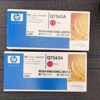 全新原裝HP Color LaserJet 2700/3000 四色碳粉盒