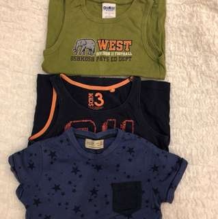 3 for $5 Zara Boys Oshkosh Cotton On Boys Tee 3-4 years old