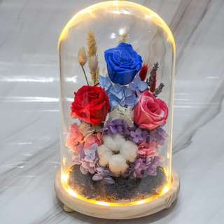 Preserved Flower Dome - Happiness -OOS