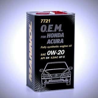 MANNOL OEM HONDA 0W20 Fully Synthetic Engine Oil (1L)