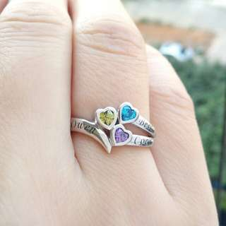 Family/Friendship Name Ring with Birthstones