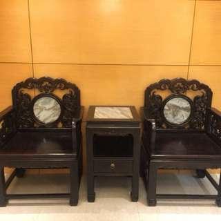 紅木太師椅一套