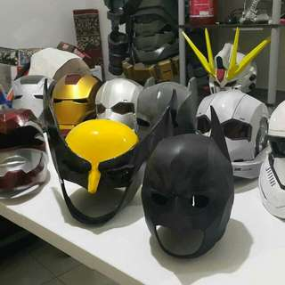 Character cosplay customes helmets