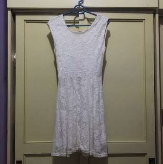 Cotton on white lace dress (short)