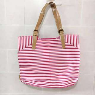 ELLE Pink stripe bag